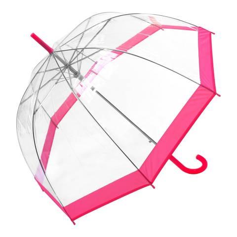 Susino Transparent / Pink Border Birdcage Umbrella