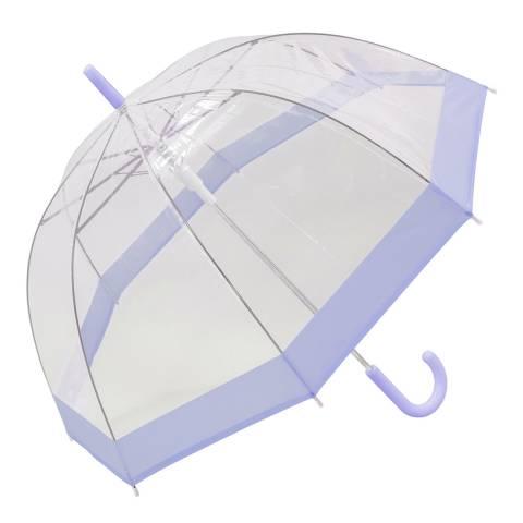 Susino Transparent / Purple Border Birdcage Umbrella