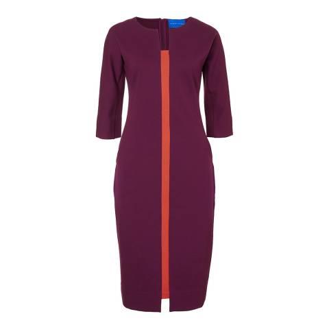 Winser London Berry/Orange Miracle Hourglass Dress