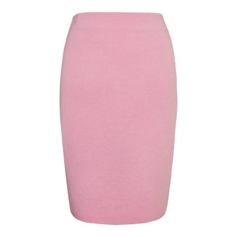 Winser London Soft Pink Milano Wool Pencil Skirt