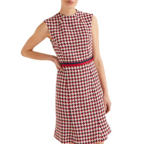 Boden Red Ayla Tweed Dress