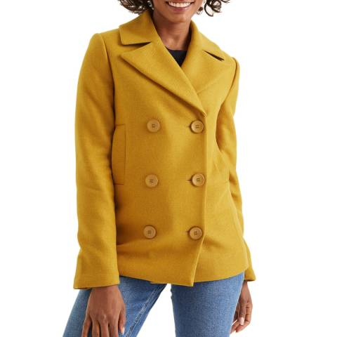 Boden Yellow Seacole Pea Coat
