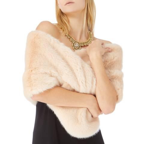 Coast Cream Blush Faux Fur Scarf