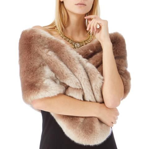 Coast Soft Grey Faux Fur Scarf