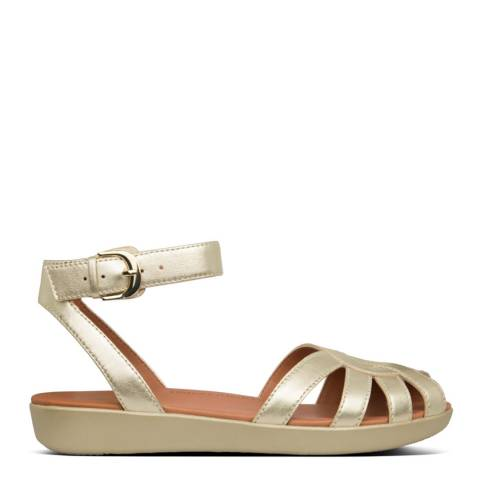 FitFlop Gold Cova Weave Sandals