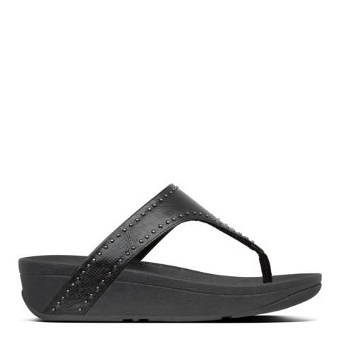 FitFlop Black Lottie Microstud Toe Thongs