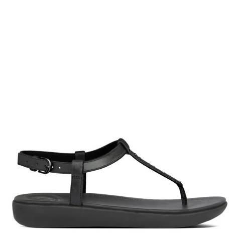 FitFlop Black Tia Microstud Back Strap Sandals