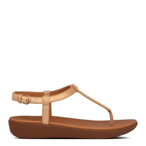 FitFlop Rose Gold Tia Microstud Back Strap Sandals