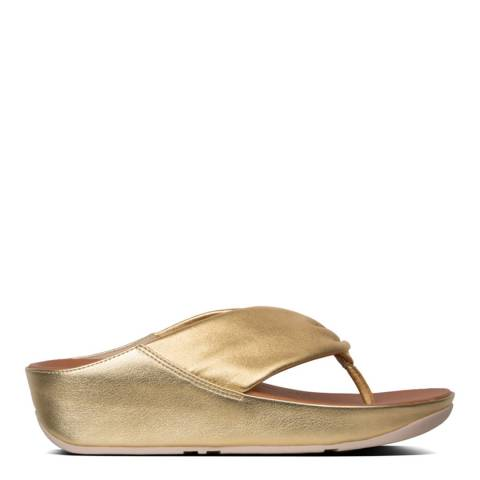 FitFlop Artisan Gold Twiss Toe Thong Sandals