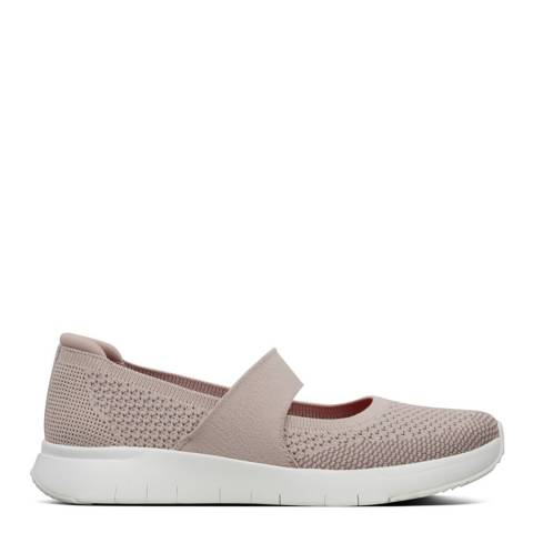 FitFlop Mink & White Marbleknit Mary Janes