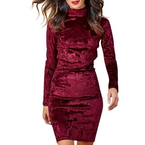 Dancing Leopard Wine Red Samara Velvet Dress