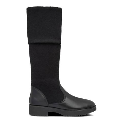 FitFlop All Black NISSE MIXTE KNEE-HIGH BOOTS