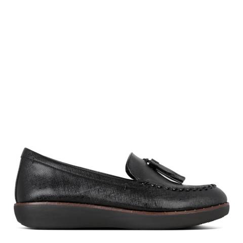 FitFlop Black Petrina Patent Loafers