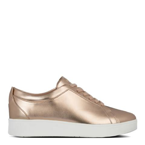 FitFlop Rose Gold Rally Metallic Sneakers