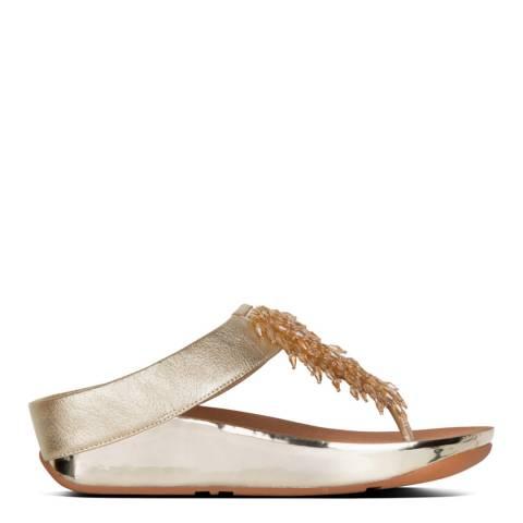 FitFlop Gold Rumba Toe Thongs Sandals