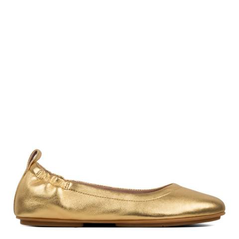 FitFlop Gold Allegro Metallic Ballerinas