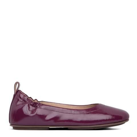 FitFlop Purple Allegro Crinkle Patent Ballerinas