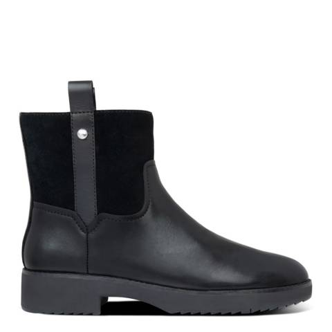 FitFlop Black Signey Leather Ankle Boots