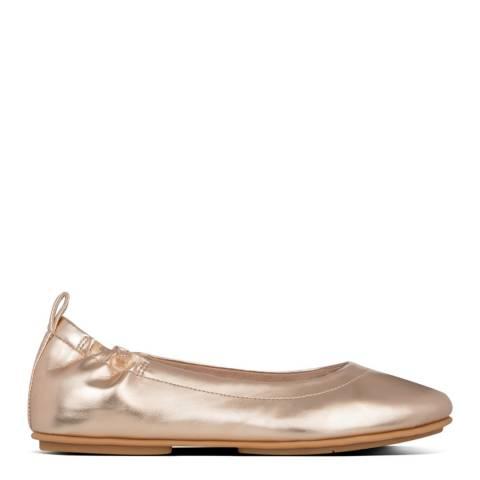 FitFlop Rose Gold Allegro Metallic Ballerinas