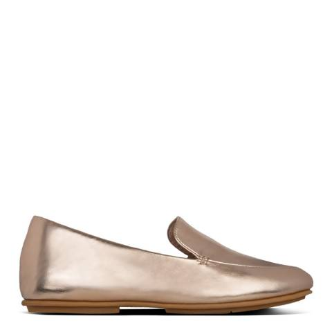 FitFlop Rose Gold Lena Metallic Loafers