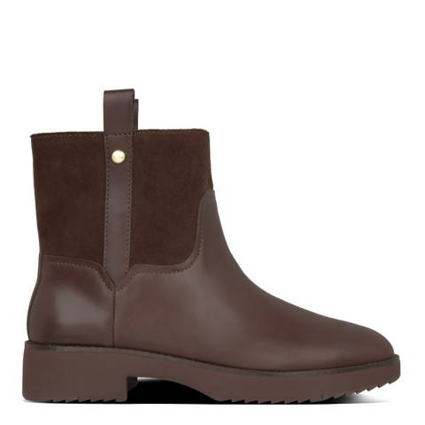 FitFlop Brown Signey Leather Ankle Boots