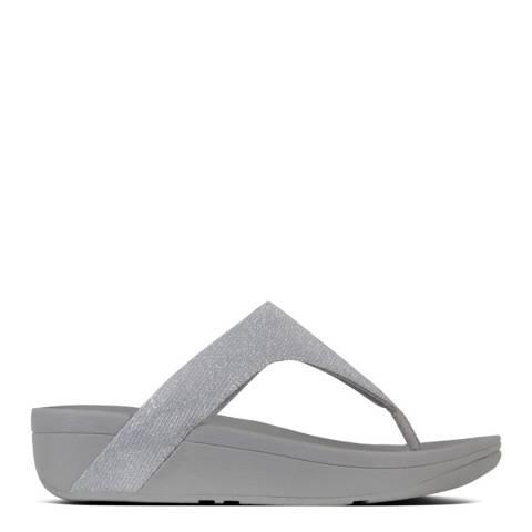 FitFlop Silver Lottie Glitzy Toe Post Sandals