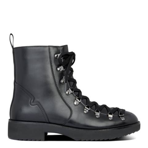 FitFlop Black Skandi Leather Ankle Boots