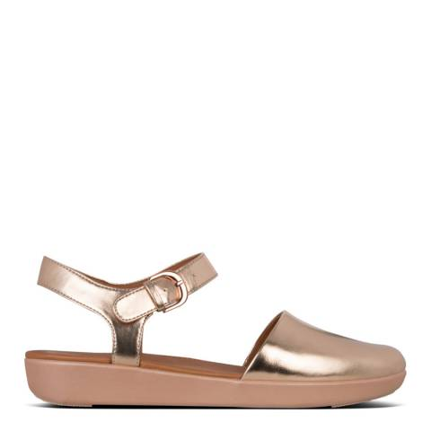 FitFlop Rose Gold Cova II Closed Toe Sandals