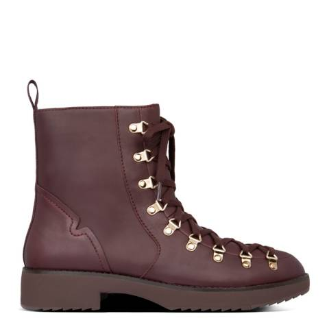 FitFlop Dark Red Skandi Leather Ankle Boots