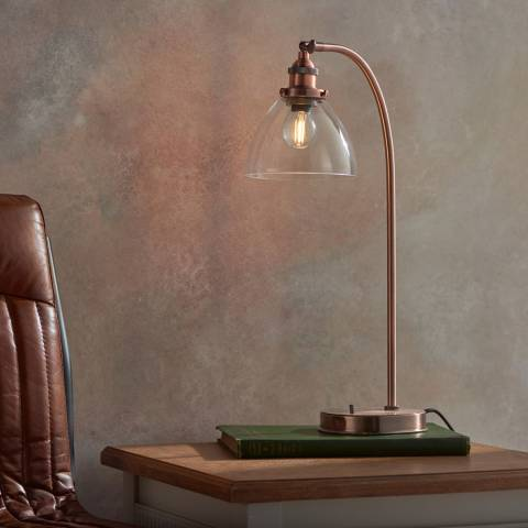 Endon Lighting Copper/Glass Hansen Table Lamp