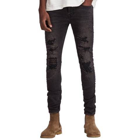 AllSaints Black Battle Cigarette Stretch Jeans