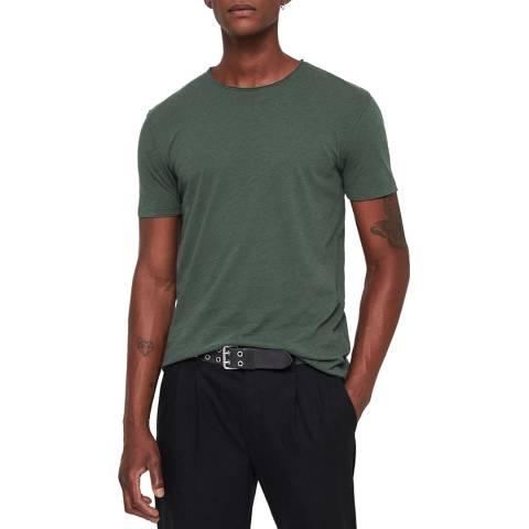 AllSaints Green Figure Crew T-Shirt