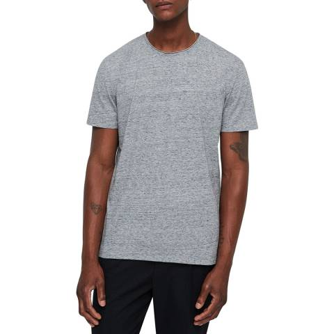 AllSaints Grey Finer Crew T-Shirt
