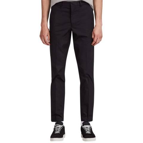 AllSaints Black Slim Tuneche Trousers