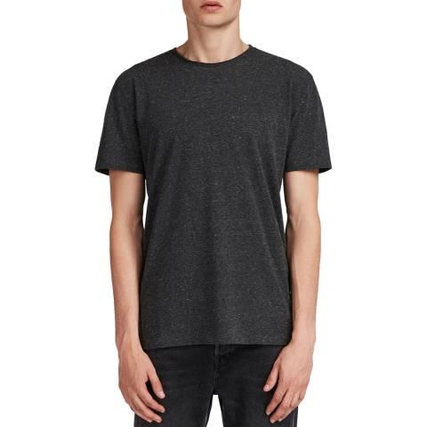 AllSaints Black Finer Crew T-Shirt