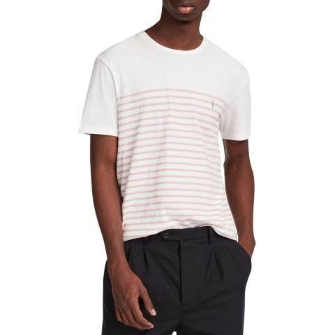 AllSaints White Striped Altt T-Shirt