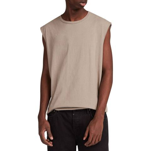 AllSaints Beige Heton Sleeveless Top