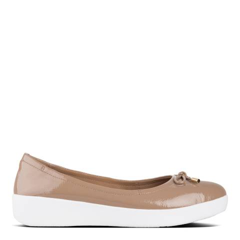 FitFlop Cream Superbendy Patent Ballerinas