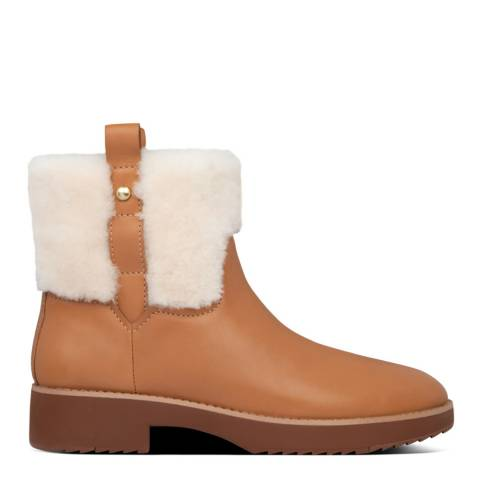 FitFlop Tan Mimie Shearling Ankle Boots