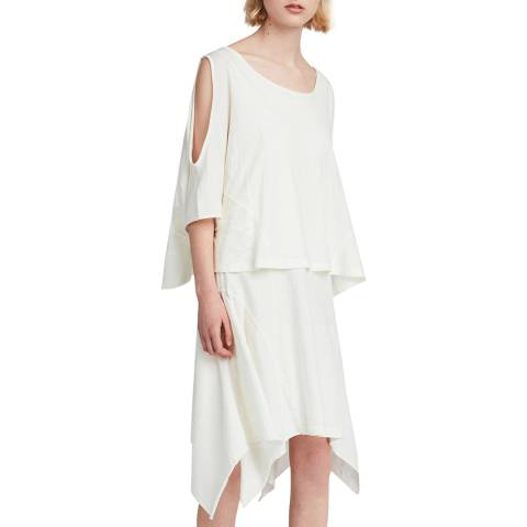 AllSaints White Ella Fifi Tiered Dress
