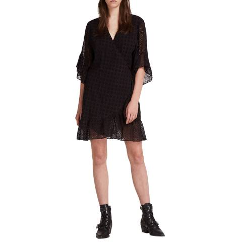 AllSaints Black Marlow Ette Dress