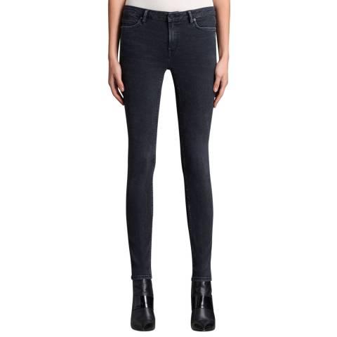 AllSaints Dark Denim Mast Stretch Jeans