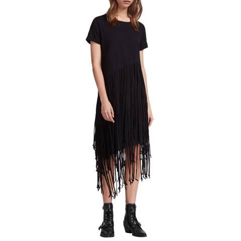 AllSaints Black Tami Layer Dress