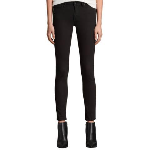 AllSaints Black Mast Skinny Stretch Jeans