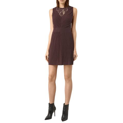 AllSaints Bordeaux Kula Dress