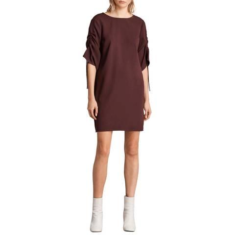 AllSaints Bordeaux Mevie Dress