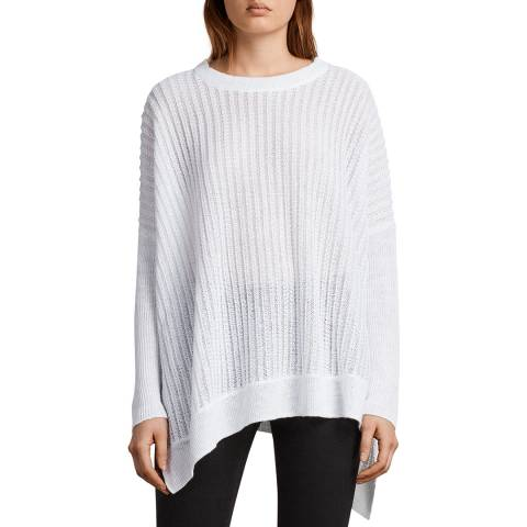 AllSaints White Verse Linen Jumper