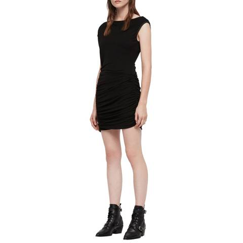 AllSaints Black Mae Jersey Dress