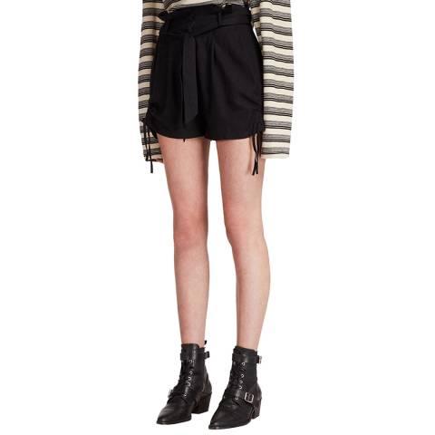 AllSaints Black Amara Shorts