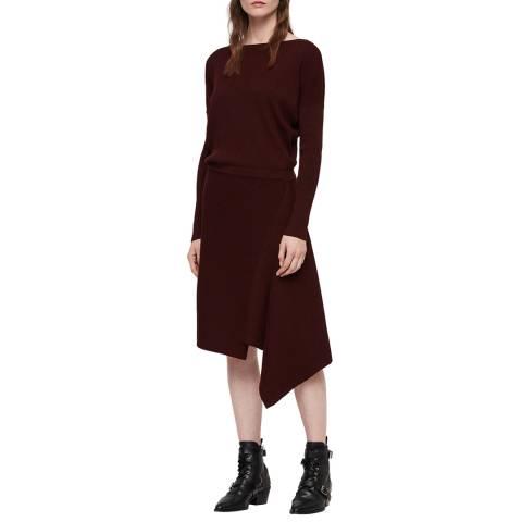 AllSaints Bordeaux Suke Dress